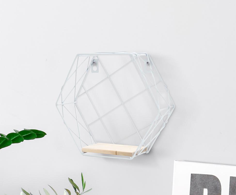 Półka loft hexagon metalowy